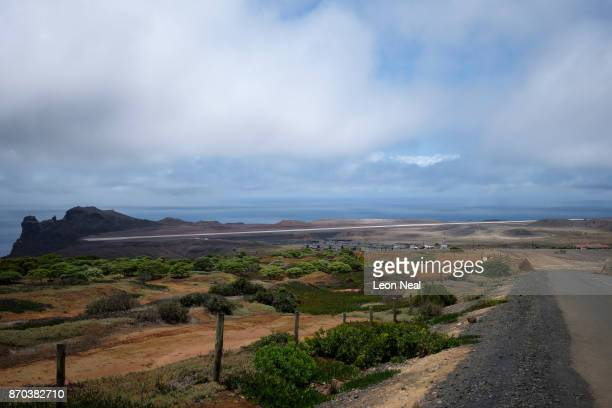A general view of St Helena airport on October 30 2017 in Prosperous Bay Saint Helena Following the introduction of weekly flights to the island...
