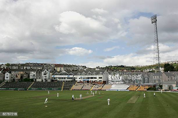 A general view of St Helens ground during the Cheltenham and Gloucester Trophy First round game between Wales and Nottinghamshire at St Helens on May...