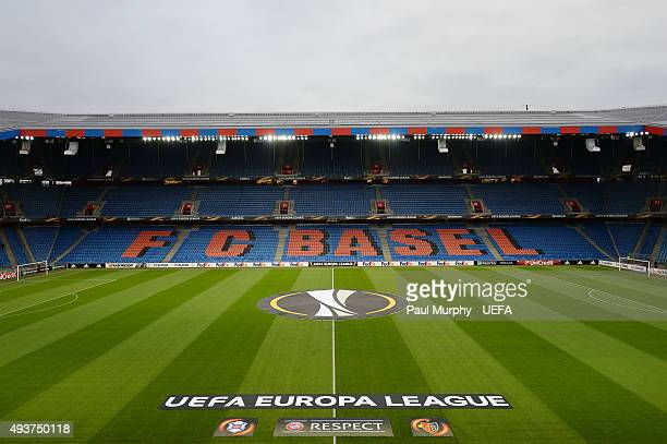 A general view of St JakobPark ahead of the UEFA Europa League Group I match between FC Basel 1893 and Os Belenenses at the St JakobPark on October...