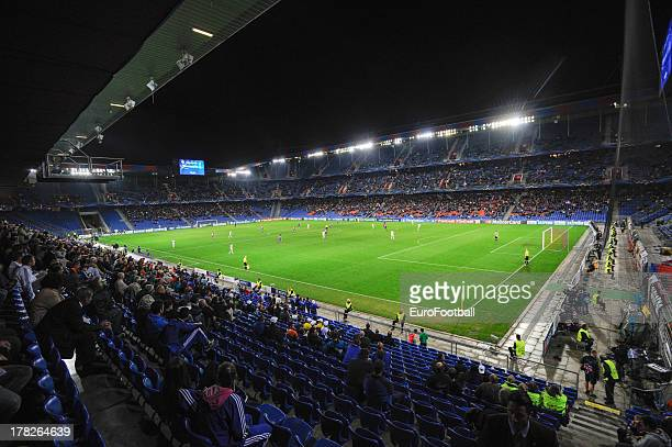 General view of St JakobPark home of FC Basel 1893 taken during the UEFA Champions League playoff second leg match between FC Basel 1893 and PFC...