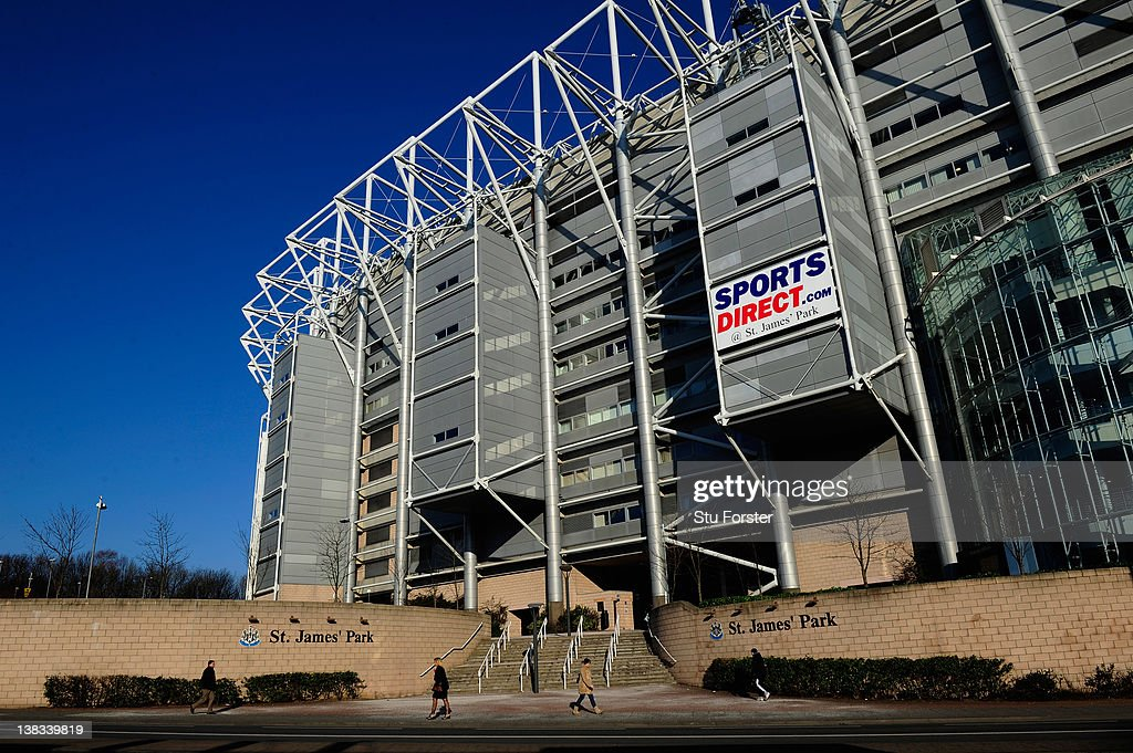 A general view of St James' Park, a venue for the 2012 Olympic Games on February 3, 2012 in Newcastle upon Tyne, England.