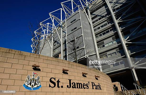 General view of St James' Park, a venue for the 2012 Olympic Games on February 3, 2012 in Newcastle upon Tyne, England.