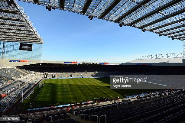 A general view of St James' Park ahead of the Barclays Premier League match between Newcastle United and Stoke City at St James' Park on February 8...