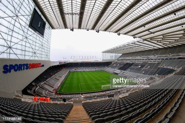 General view of St James' Park ahead of the Premier League match between Newcastle United and Manchester United at St. James Park on October 6, 2019...