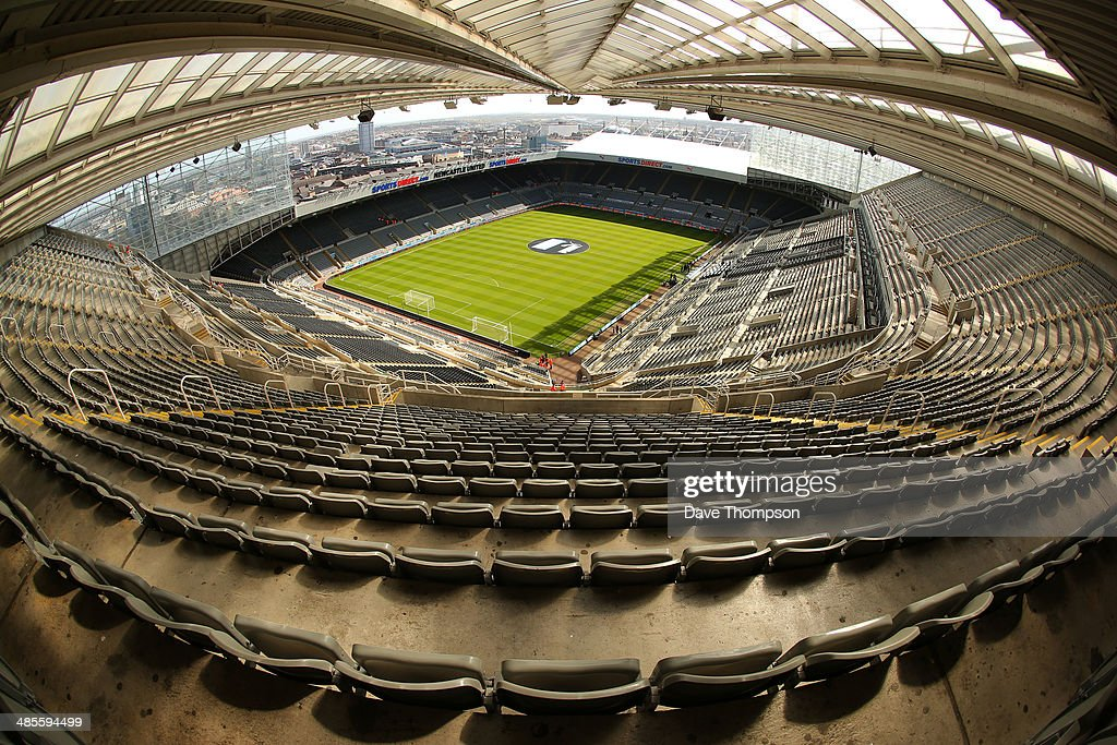 General view of St. James Park before the Barclays Premier League fixture between Newcastle United and Swansea City at St. James Park on April 19, 2014 in Newcastle-upon-Tyne, England.