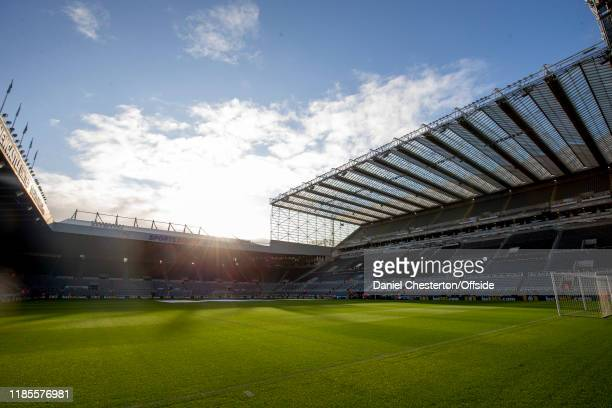General view of St James' Park before the Premier League match between Newcastle United and Manchester City at St. James Park on November 30, 2019 in...