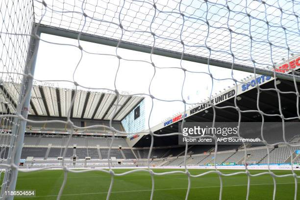 General view of St James' Park before the Premier League match between Newcastle United and AFC Bournemouth at St. James Park on November 09, 2019 in...