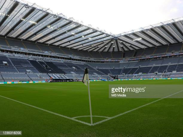 General view of St James Park before the Premier League match between Newcastle United and Leeds United at St. James Park on September 17, 2021 in...