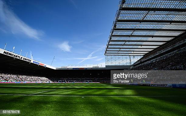 A general view of St James' Park during the Barclays Premier League match between Newcastle United and Tottenham Hotspur at St James' Park on May 15...