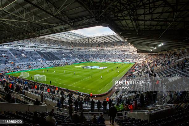 General view of St James' Park during the Premier League match between Newcastle United and Manchester City at St. James's Park, Newcastle on...