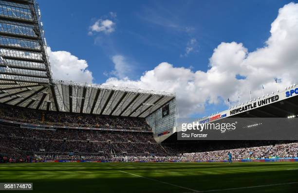A general view of St James' Park during the Premier League match between Newcastle United and Chelsea at St James Park on May 13 2018 in Newcastle...