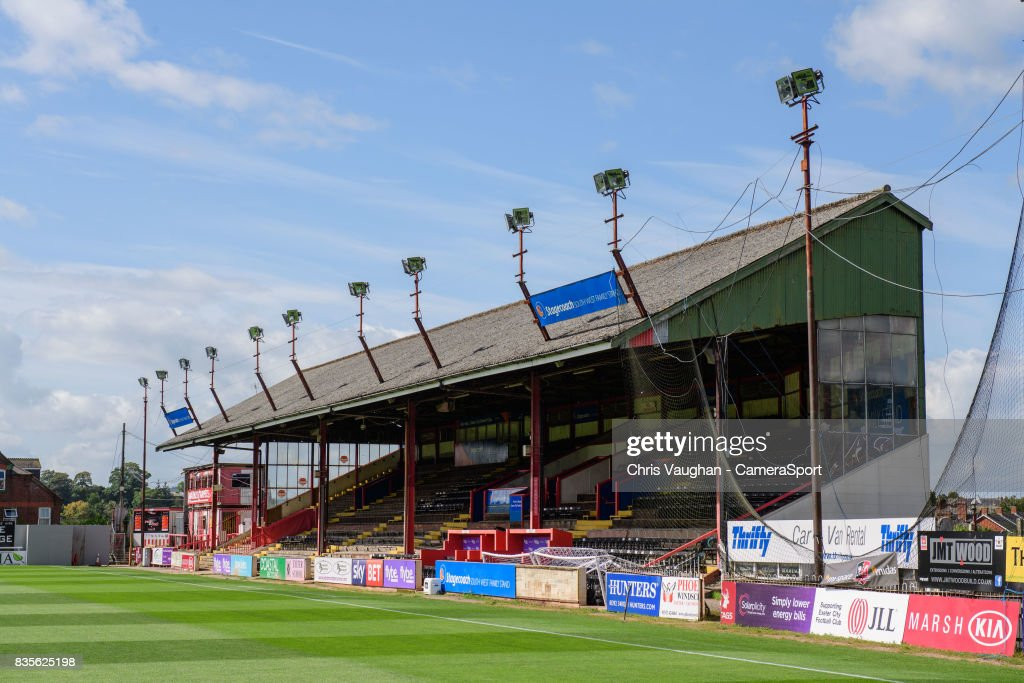 A general view of St James Park, home of Exeter City FC prior to the Sky Bet League Two match between Exeter City and Lincoln City at St James Park on August 19, 2017 in Exeter, England.