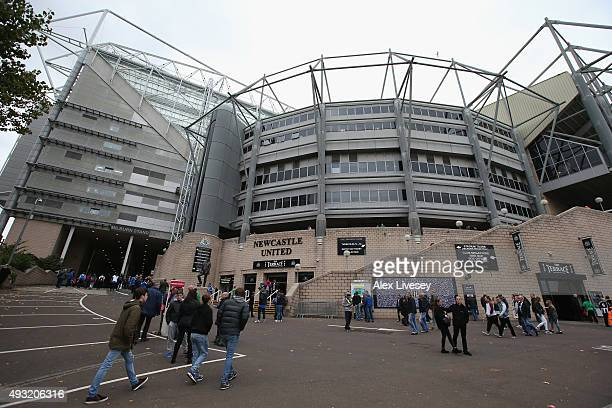 A general view of St James' Park is seen prior to the Barclays Premier League match between Newcastle United and Norwich City at St James' Park on...