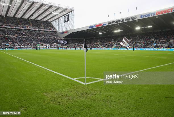 A general view of St James Park is seen prior to the Premier League match between Newcastle United and Chelsea FC at St James Park on August 26 2018...