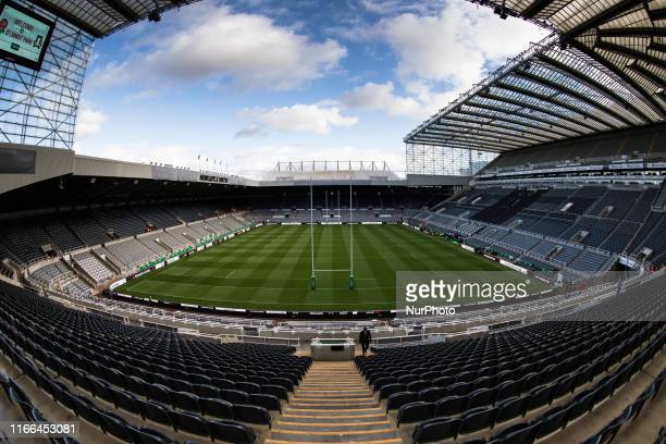 General view of St. James' Park looking towards the Gallowgate End prior to the Quilter Autumn International match between England and Italy at St....