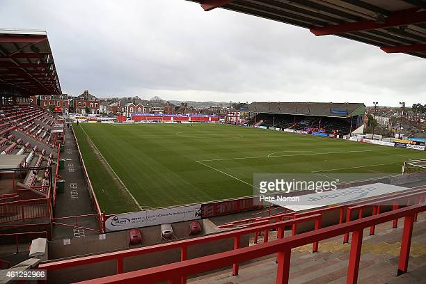 A general View of St James Park prior to the Sky Bet League Two match between Exeter City and Northampton Town at St James Park on January 10 2015 in...