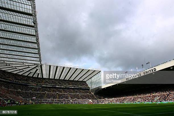 A general view of St James' Park stadium during the Barclays Premier League match between Newcastle United and Sunderland on April 20 2008 in...
