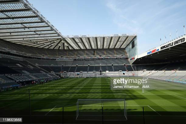 General view of St James's Park home stadium of Newcastle United during the Premier League match between Newcastle United and Southampton FC at St....