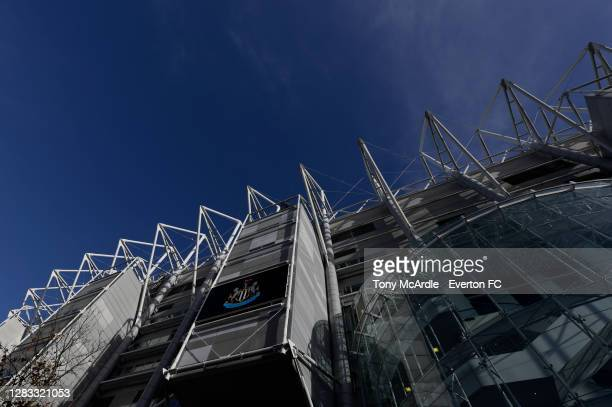 """General view of St James""""u2019s Park before the Premier League match between Newcastle United and Everton at St James Park on November 1, 2020 in..."""