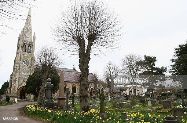 A general view of St John The Baptist Church where a memorial book in memory of Jade Goody has opened and where her funeral will take place on April...