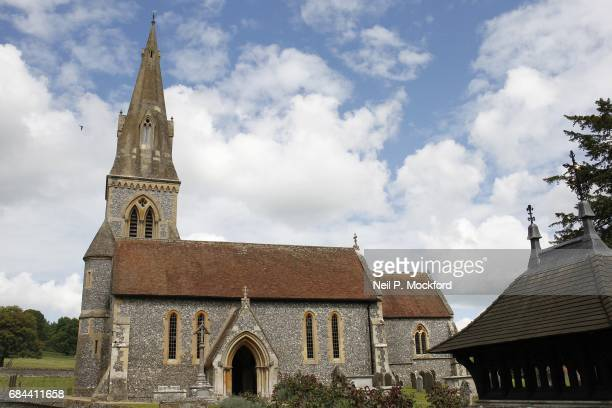 General View of St Mark's Church in Englefield where Pippa Middleton and James Matthew are planning on getting married on May 18 2017 in Englefield...
