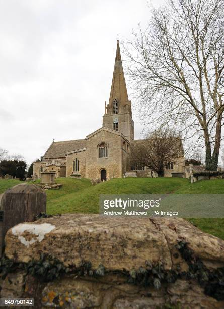 General view of St Marys Church in Bampton Village in Oxfordshire which is transferred into St. Michael of All Angels when Bampton is changed into...