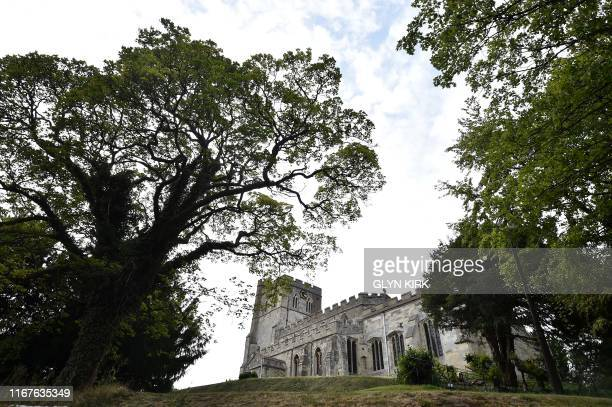 A general view of St Mary's Church where guests can pay to stay overnight in what is known as 'champing' is pictured in Edlesborough Buckinghamshire...