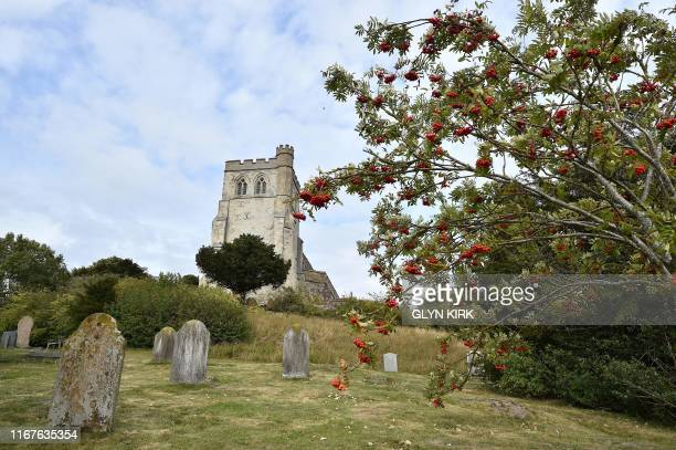 General view of St Mary's Church, where guests can pay to stay overnight in what is known as 'champing', is pictured in Edlesborough, Buckinghamshire...