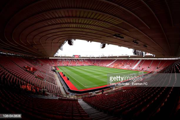 General view of St Mary's stadium before the Premier League match between Southampton FC and Everton FC at St Mary's Stadium on January 19, 2019 in...