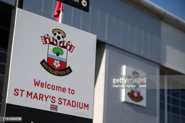 General view of St Marys Stadium home of Southampton during the Premier League match between Southampton FC and Wolverhampton Wanderers at St Mary's...
