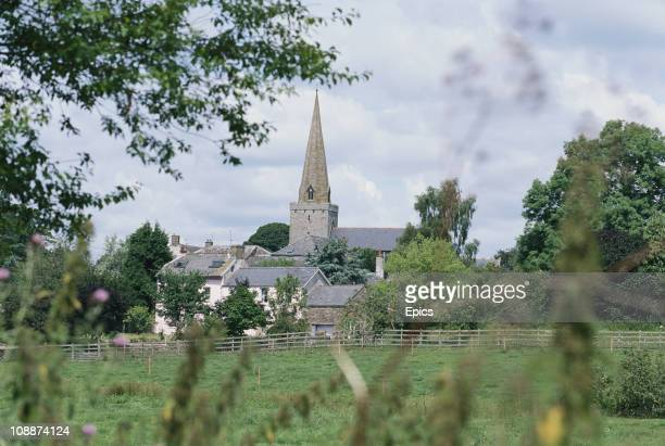 General view of St Nicholas church in the rural village of Trellech, Monmouthshire, Wales, July 1997.