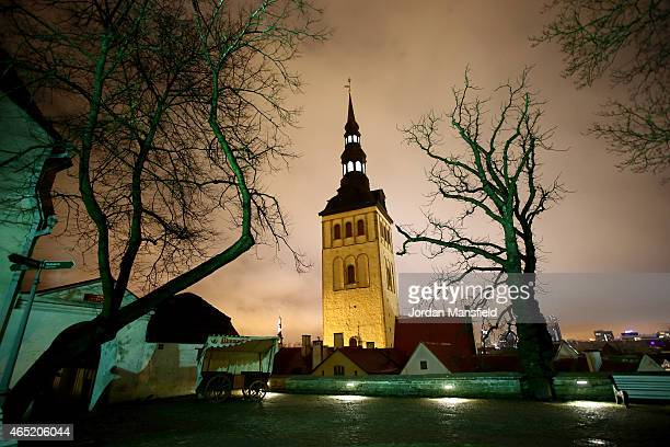General view of St. Nicholas' Church on March 2, 2015 in Tallinn, Estonia.