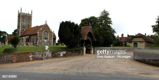 General view of St Peter and St Paul church in West Newton village Norfolk a neighbouring village to Anmer and Anmer Hall on the Royal Sandringham...