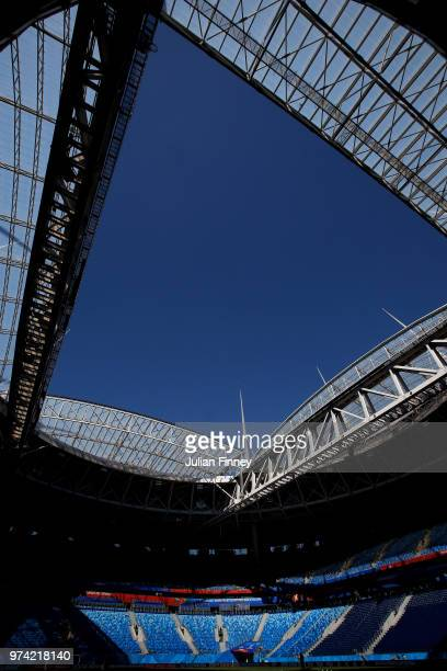 General view of St Petersburg Stadium during previews ahead of the 2018 FIFA World Cup on June 14, 2018 in St Petersburg, Russia.
