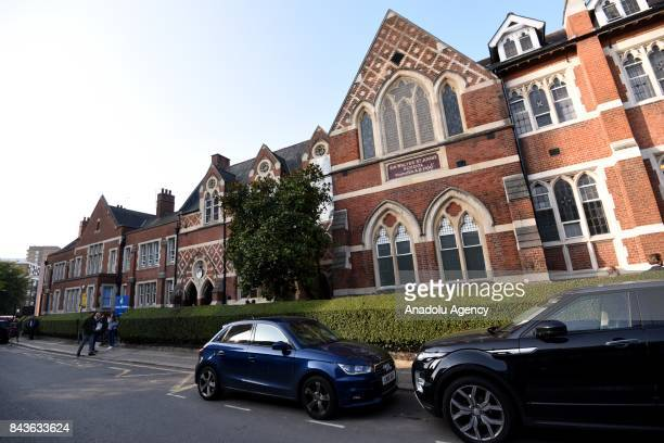 A general view of St Thomas's school in Battersea where Prince George is attending his first day in London United Kingdom on September 7 2017