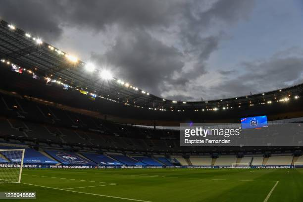 General view of Stade de France before the international friendly match between France and Ukraine on October 7, 2020 in Paris, France.