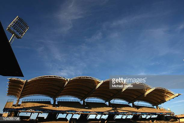 General view of Stade de Gerland ahead of the Group B UEFA Champions League first phase match between Olympique Lyon and Schalke 04 on September 13...
