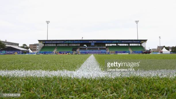 General view of Stade de Marville prior to the group B match between England and Mexico at Stade de Marville on August 12 2018 in SaintMalo France