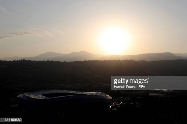 A general view of Stade de Nice ahead of the FIFA Women's World Cup France 2019 on June 07 2019 in Nice France