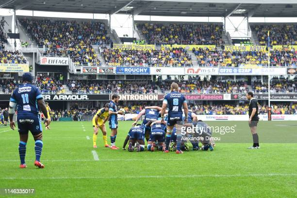 General view of Stade Marcel Michelin during the Top 14 match between Clermont and Montpellier on May 25 2019 in ClermontFerrand France