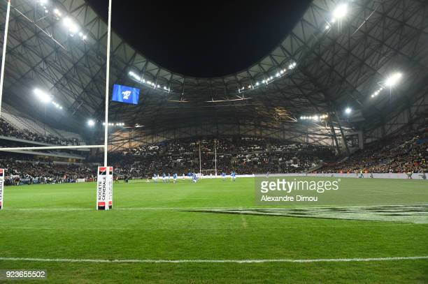 General view of Stade Orange Velodrome during the NatWest Six Nations match between France and Italy at Stade Velodrome on February 23 2018 in...