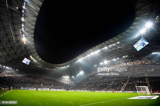 General View of Stade Velodrome of Marseille during the French Ligue 1 match between Marseille and Bordeaux at Stade Velodrome on October 30 2016 in...