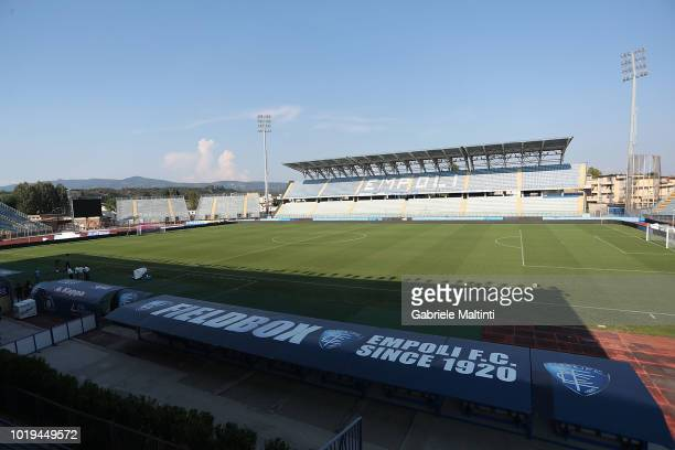 General view of Stadio Carlo Castellani prior the serie A match between Empoli and Cagliari at Stadio Carlo Castellani on August 19 2018 in Empoli...