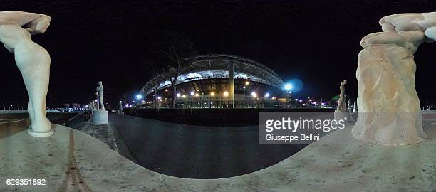 General view of Stadio dei Marmi and Stadio Olimpico prior the Serie A match between AS Roma and AC Milan at Stadio Olimpico on December 12 2016 in...