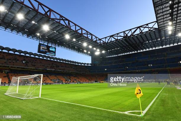 General view of Stadio Giuseppe Meazza during the Serie A match between FC Internazionale and Genoa CFC at Stadio Giuseppe Meazza on December 21,...