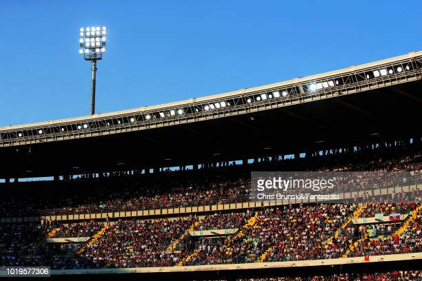 A general view of Stadio Marc'Antonio Bentegodi during the Serie A match between Chievo Verona and Juventus at Stadio Marc'Antonio Bentegodi on...