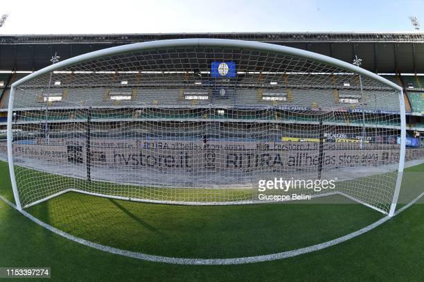 General view of Stadio Marcantonio Bentegodi prior the Serie B Playoff Final second leg match between Hellas Verona and AS Cittadella at Stadio...