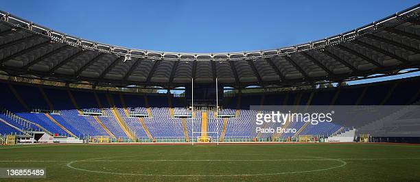 A general view of Stadio Olimpico ahead of 2012 RBS Six Nations at Stadio Olimpico on January 12 2012 in Rome Italy