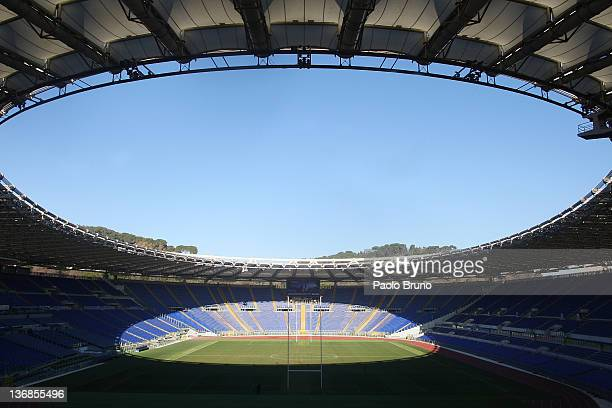 General view of Stadio Olimpico ahead of 2012 RBS Six Nations at Stadio Olimpico on January 12, 2012 in Rome, Italy.