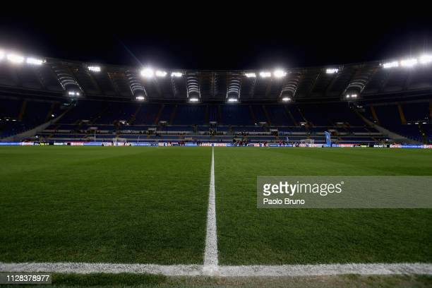 A general view of Stadio Olimpico before the Serie A match between SS Lazio and AS Roma at Stadio Olimpico on March 2 2019 in Rome Italy